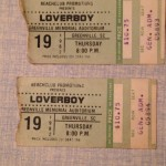 The Actual Ticket Stubs.  August 19, 1982.